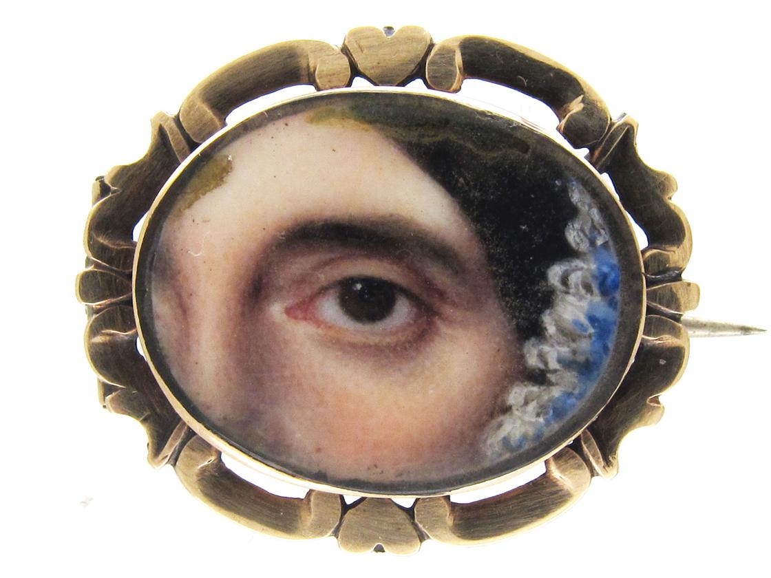 Georgian Miniature Eye Brooch The Antique Jewellery Company