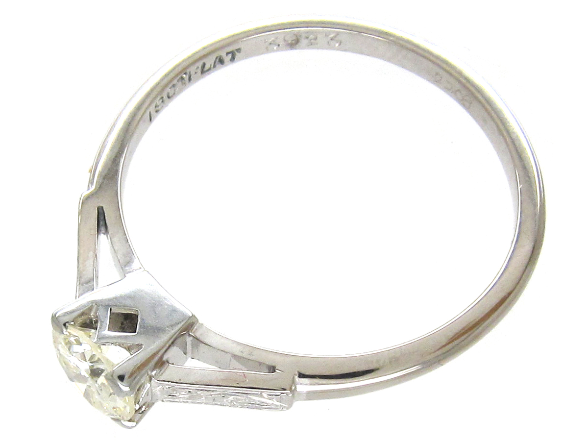 18ct white gold platinum solitaire ring the
