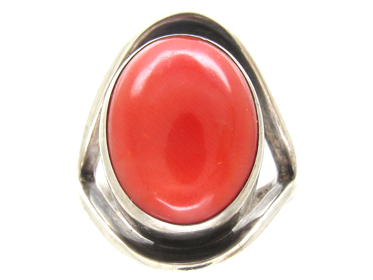 silver coral ring the antique jewellery company