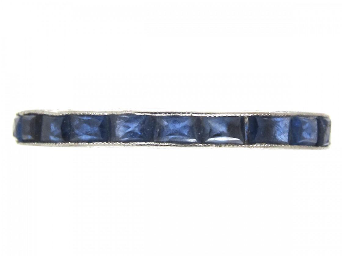 Art Deco Sapphire Eternity Ring The Antique Jewellery