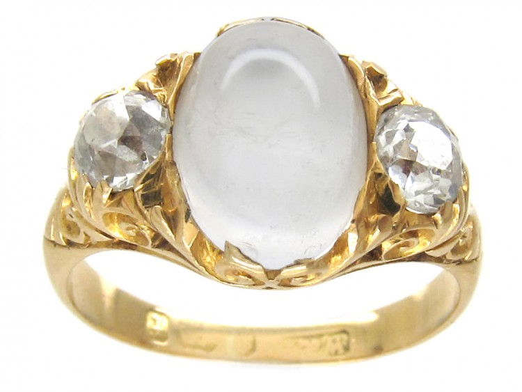 victorian moonstone amp diamond ring the antique jewellery