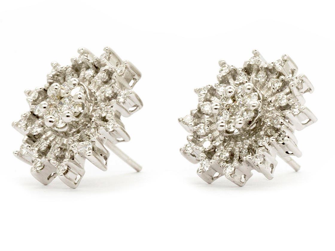 Diamond Snowflake Earrings White Gold