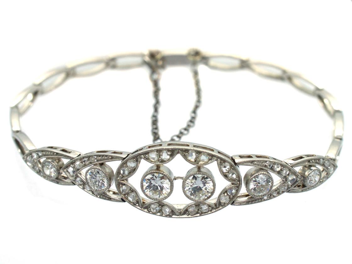 art deco platinum amp diamond bracelet the antique