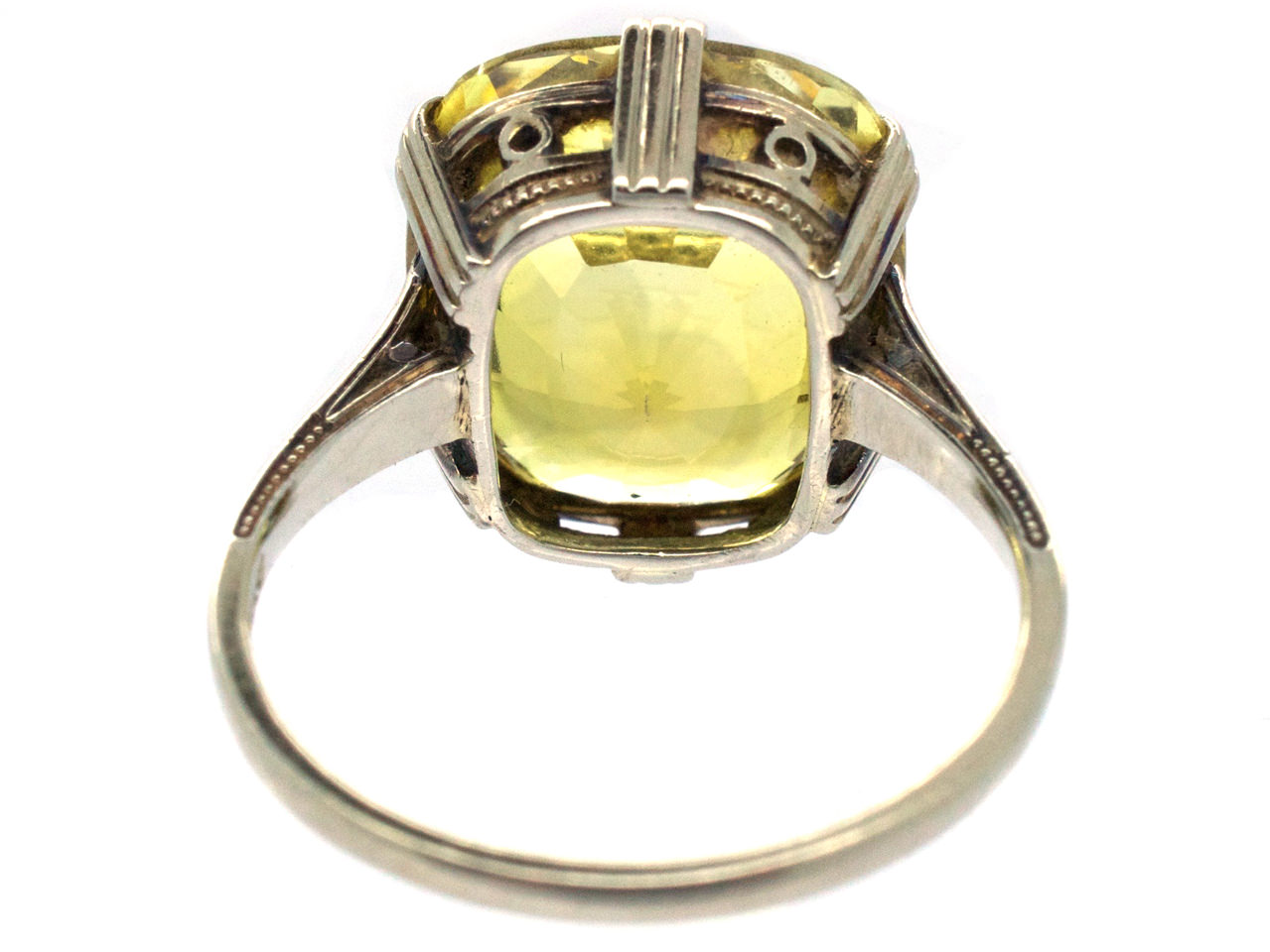 Art Deco Yellow Sapphire Amp White Gold Ring The Antique