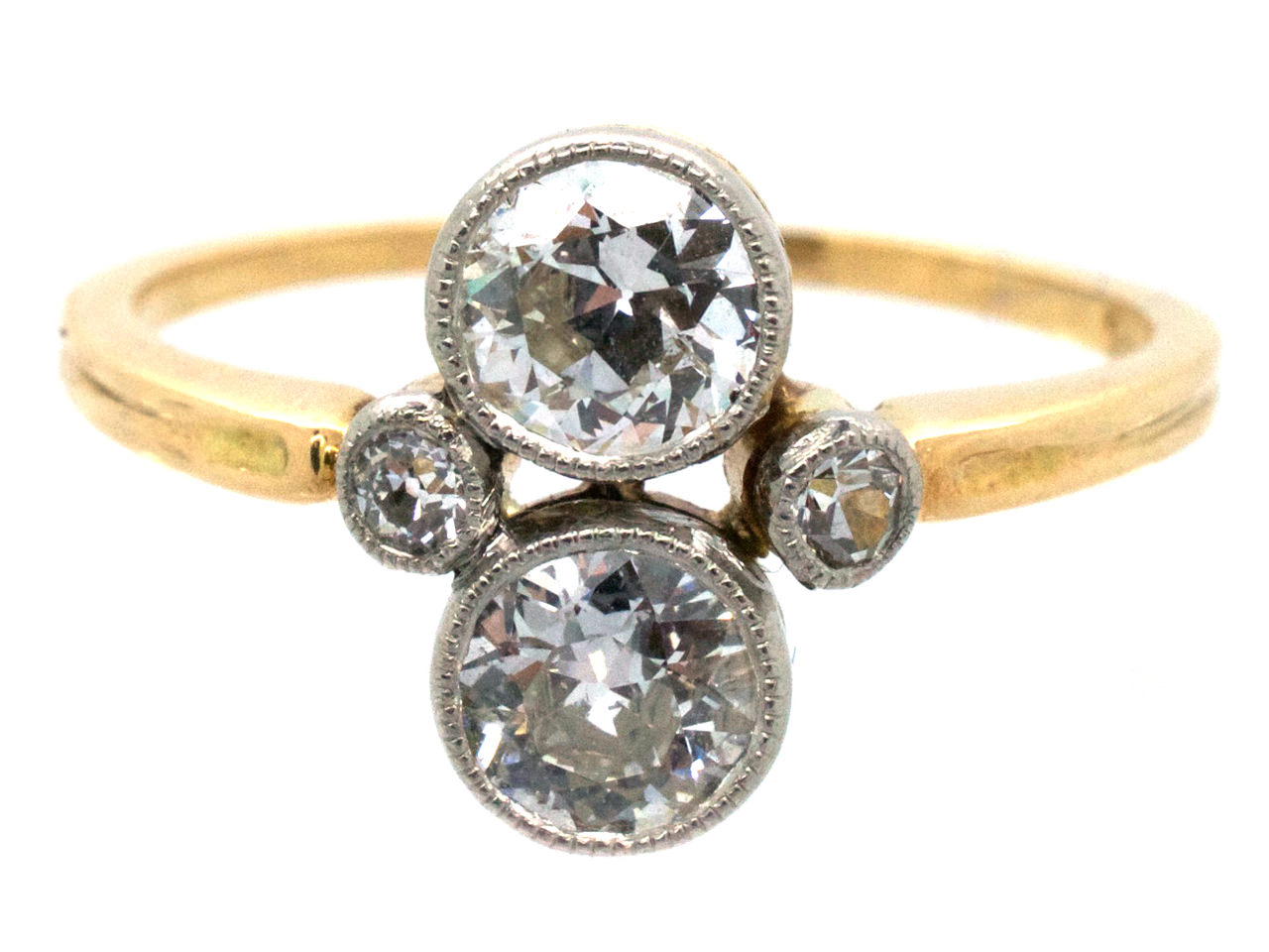 Art Deco Two Stone Diamond Ring The Antique Jewellery