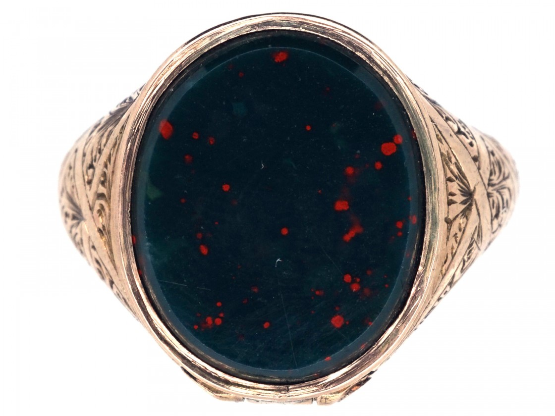 Victorian Opening Gold & Bloodstone Signet Ring - The ... | 1120 x 840 jpeg 137kB