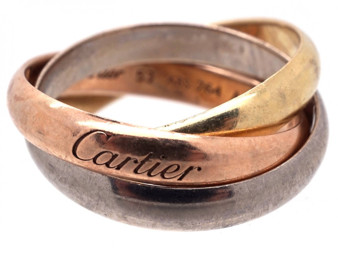 Cartier Three Colour Gold Russian Wedding Ring The Antique