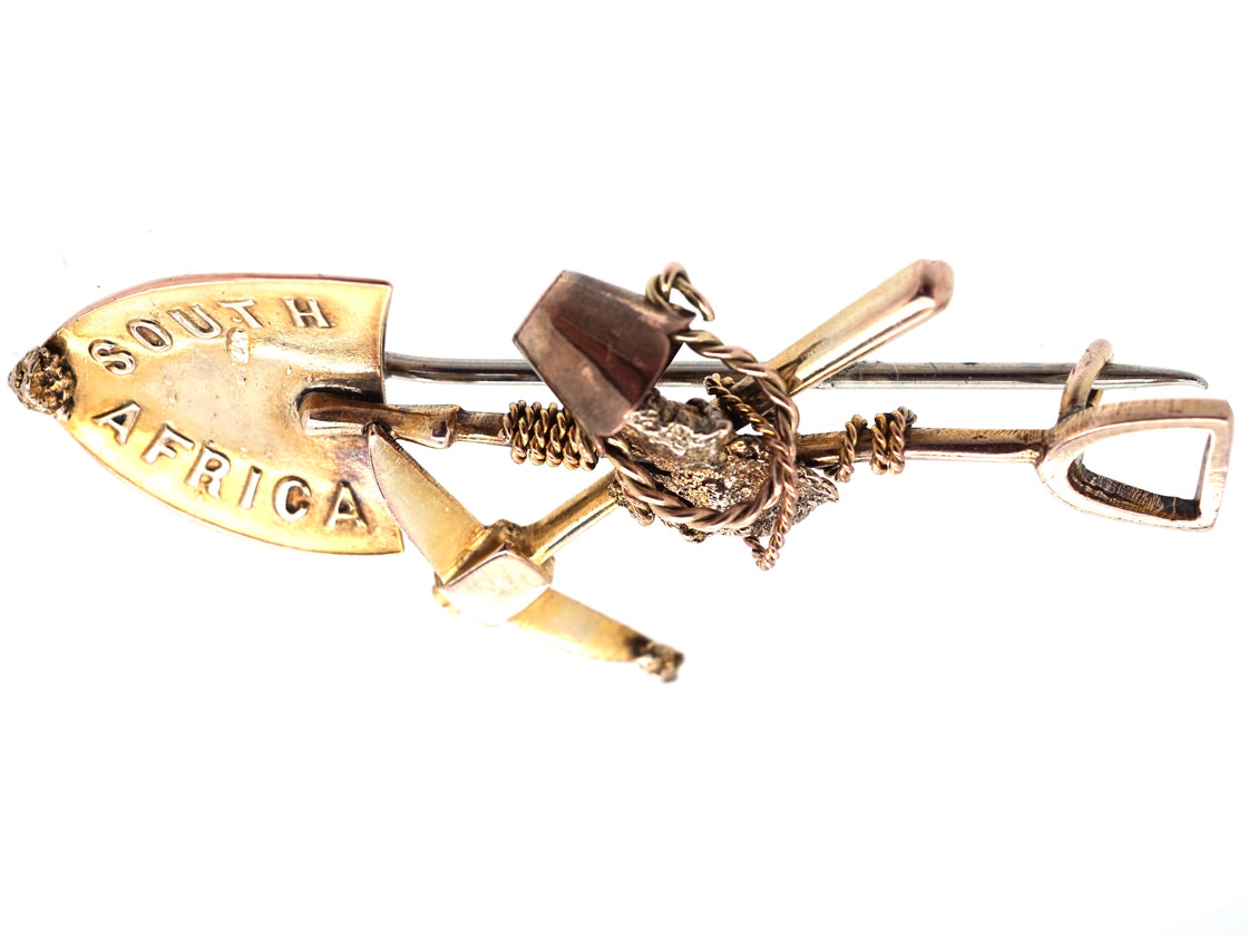 Victorian 15ct Gold Miner S Brooch The Antique Jewellery