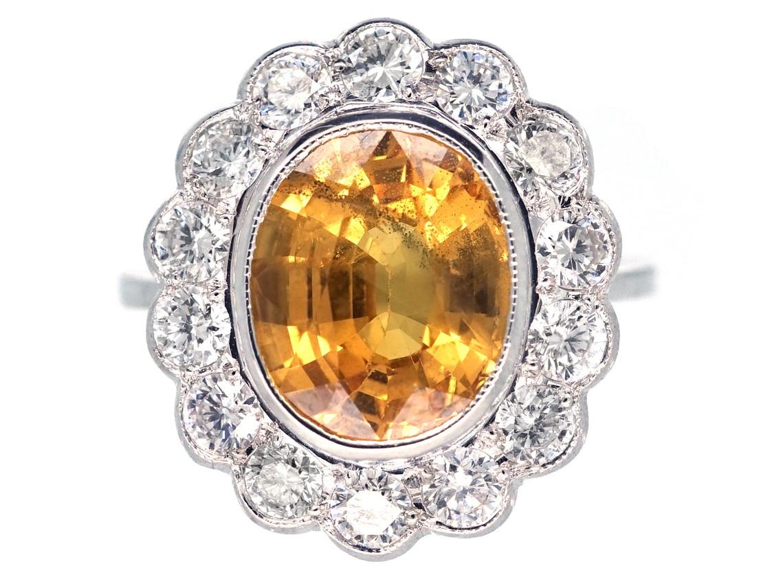 Ct Yellow Gold Diamond Cluster Ring