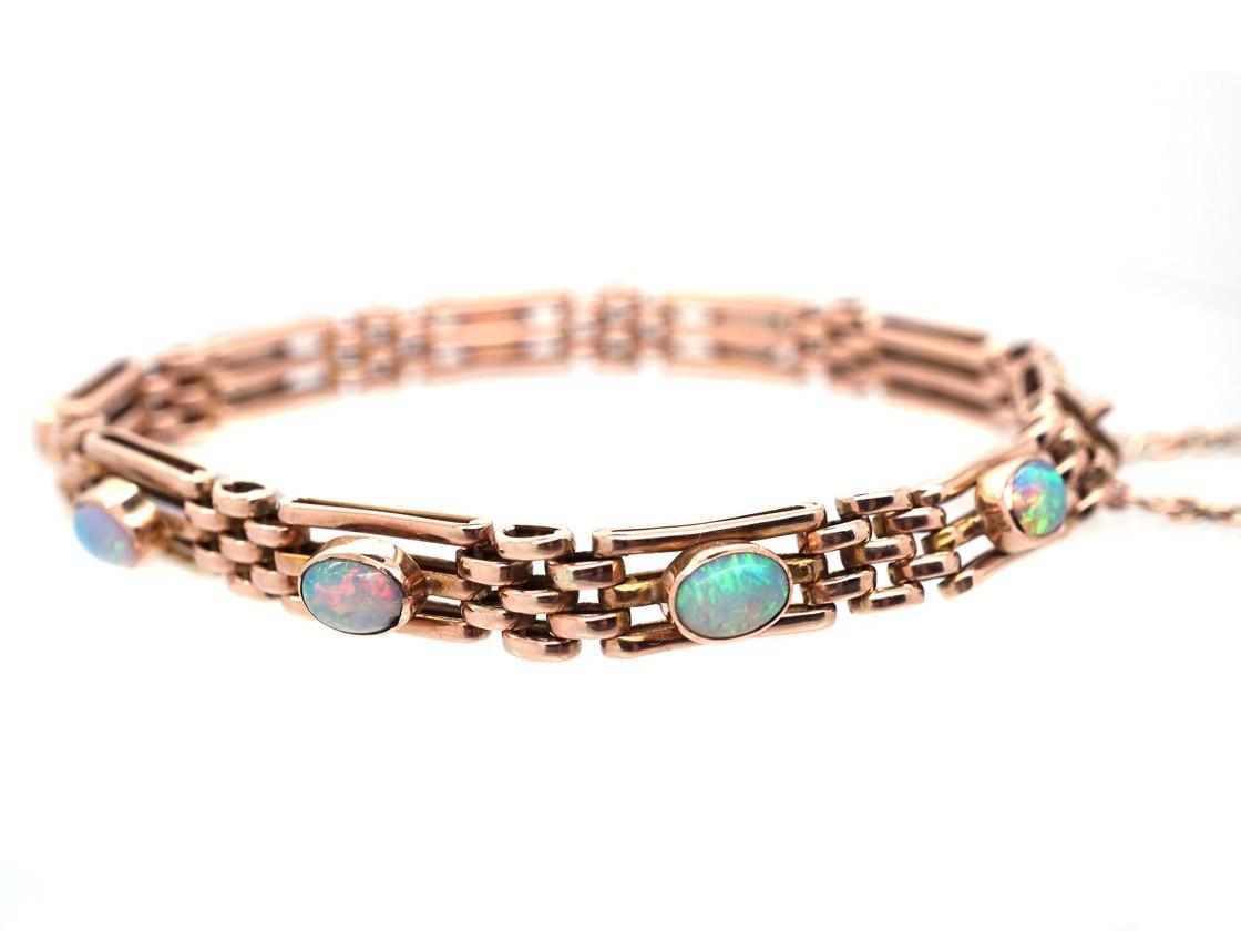 Edwardian 9ct Gold Opal Bracelet