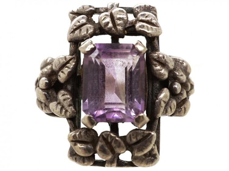 Bernard Instone Silver Amethyst Ring The Antique
