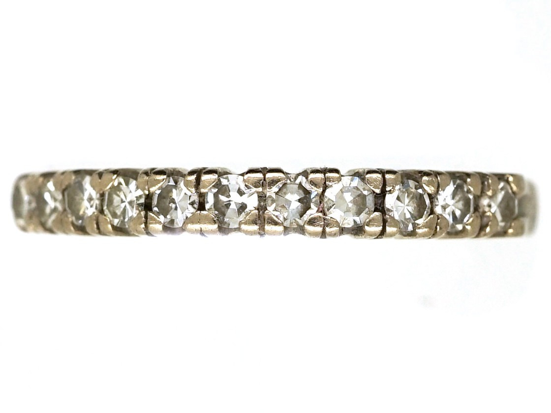 18ct white gold half eternity ring the antique