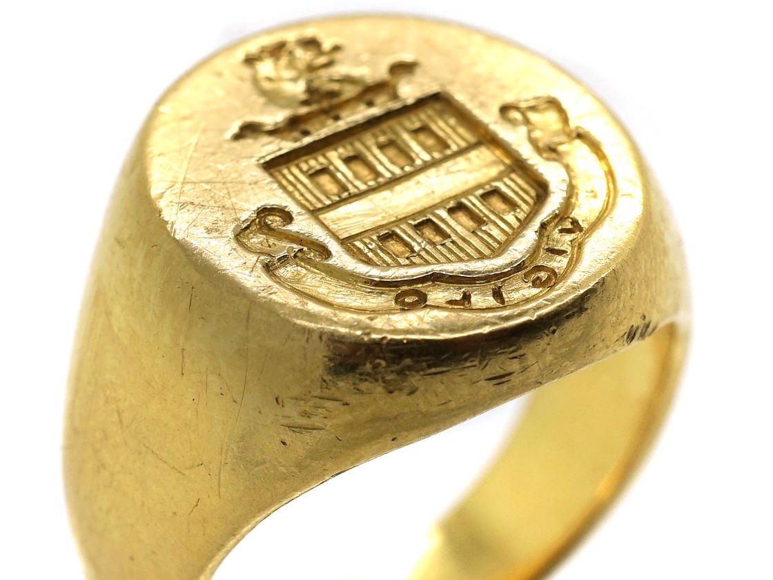 18ct Gold Signet Ring By Tiffany The Antique Jewellery
