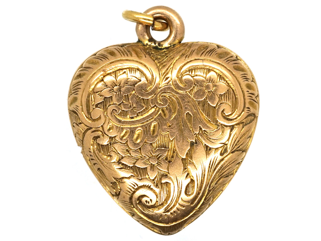 early victorian 15ct gold heart pendant the antique. Black Bedroom Furniture Sets. Home Design Ideas