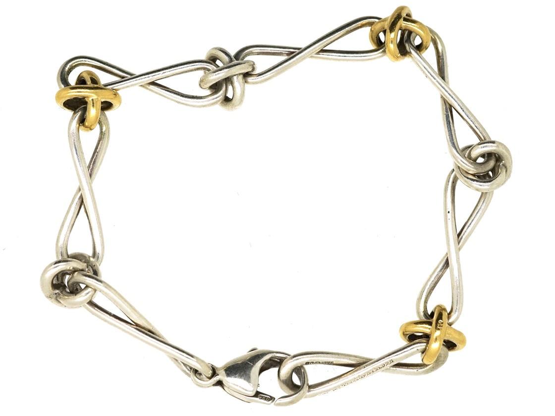 Tiffany Silver Gold Knot Bracelet By Paloma Pico