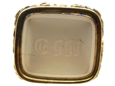 Georgian Gold Cased Seal With Chalcedony Base