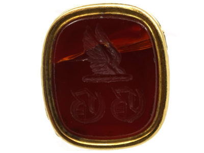 Georgian Gold Cased Seal with Carnelian Base