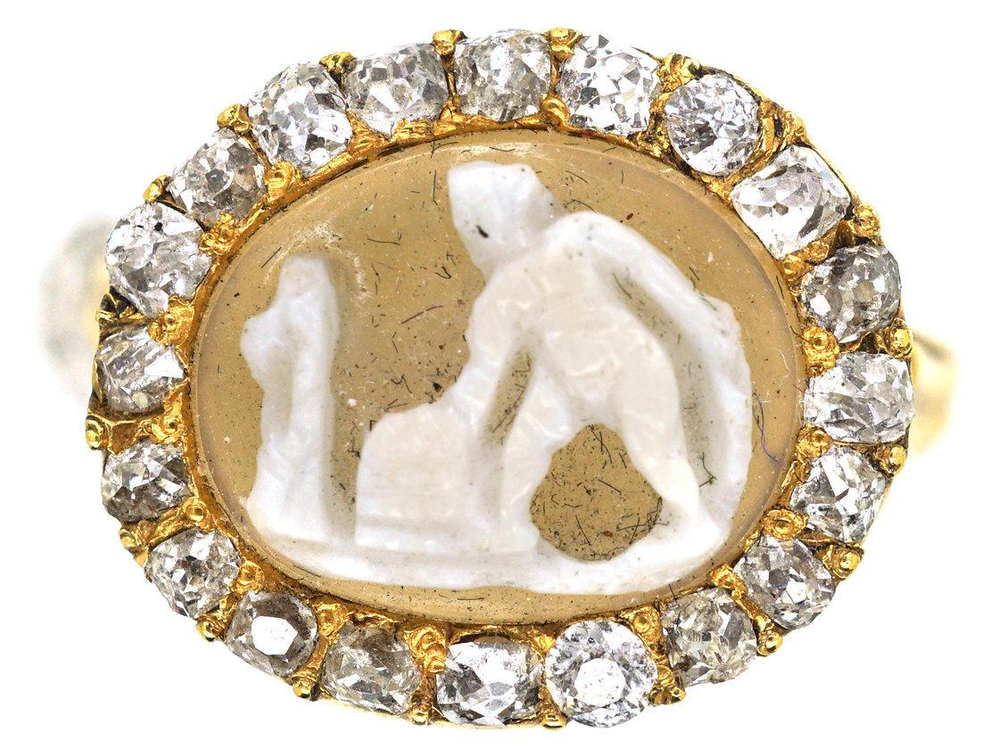 Early Georgian Diamond Cameo Ring The Antique Jewellery