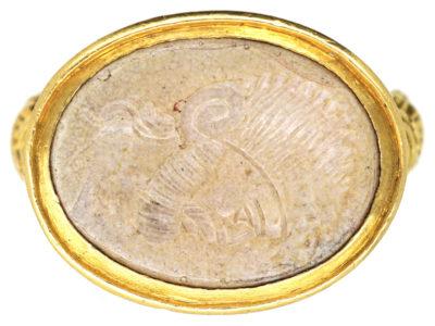 Georgian 18ct Gold Ring with Intaglio of Centurion's Head