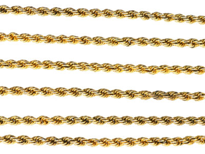 Edwardian 9ct Gold Prince of Wales Twist Guard Chain