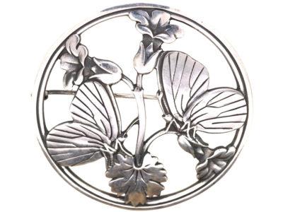 Silver Moonlight Blossom Brooch by Arno Malinowski for George Jensen