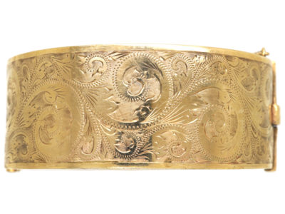 9ct Gold Wide Bangle