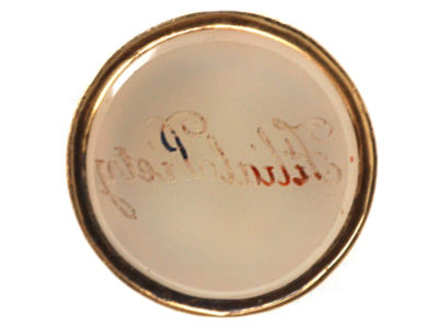 Georgian Two Colour Gold Seal with Chalcedony Base Engraved Filial Piety
