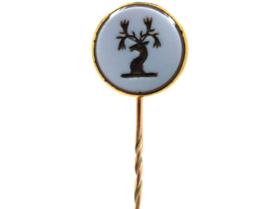 Victorian 18ct Gold & Carnelian Tie Pin with Intaglio of a Stag's Head