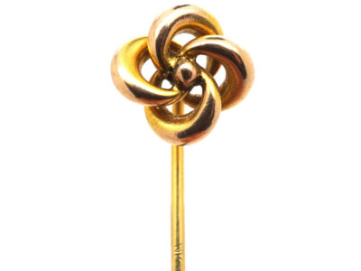 Edwardian 15ct Gold Knot Tie Pin