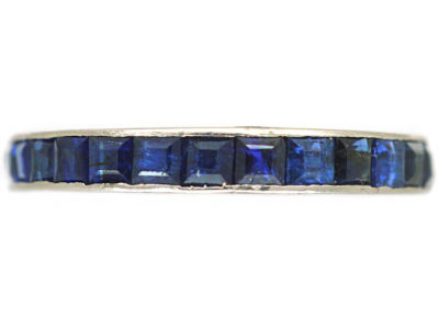 Art Deco 18ct White Gold & Sapphire Eternity Ring