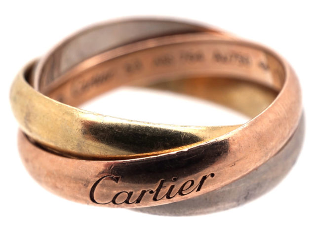 Cartier Three Colour Gold Russian Wedding Ring