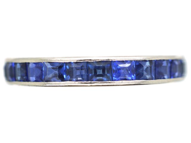 18ct White Gold & Sapphire Eternity Ring